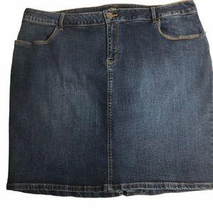 R Jeans women's blue jean skirt size Plus 18